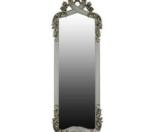 Hookes Silver & White French Style Alcove Mirror