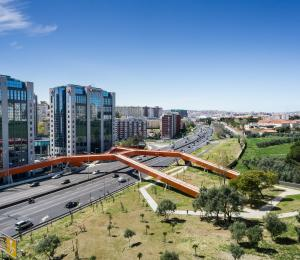 Pedestrian and Cycling Bridge, Portugal