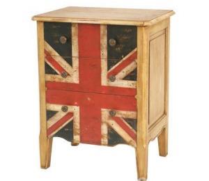 Union Jack Mahogany Bedside