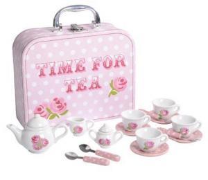 Think Pink Spotty 17 Piece Rose Tea Set