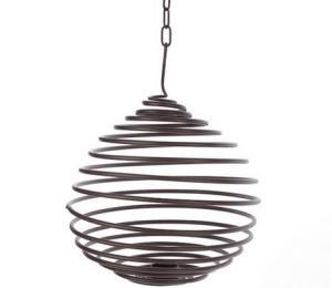 H S Garden Metal Spiral T Light