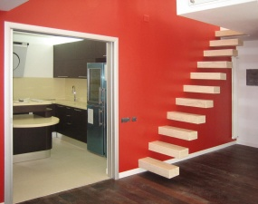 Red toy apartment in Milan