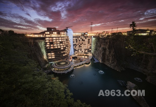 Wonderland Intercontinental Hotel in a Quarry, Songjiang, China